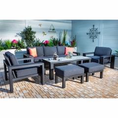 Hartman Titan 3 Seat Lounge Set Carbon/Nebula