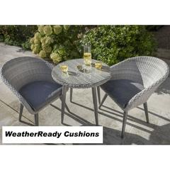Hartman Sienna Bistro Set Weatheready Cushions Antique White/Pebble