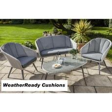 Hartman Sienna Lounge Set Weatherready Cushions Antique White/Pebble