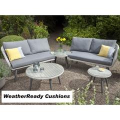 Hartman Sienna Adjustable Corner Set Weatherready Cushions Antique White/Pebble