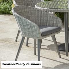 Hartman Sienna Dining Chair Weatherready Cushion Antique White/Parasol