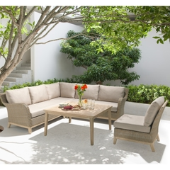 Kettler Cora Corner Set with Variable Height Coffee Table