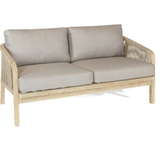 Kettler Cora Rope - 2 Seat Sofa with cushions