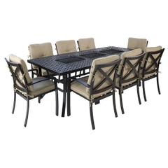 Hartman Jamie Oliver Contemporary Feastable 8 Seat Set 2017 Bronze with Biscuit Cushions