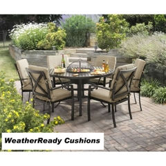 Hartman Jamie Oliver Contemporary 6 Seat Grilling Set Weatherready Cushions Bronze/Biscuit
