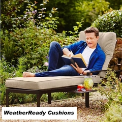 Hartman Jamie Oliver Contemporary Lounger Weatherready Cushions Bronze/Biscuit