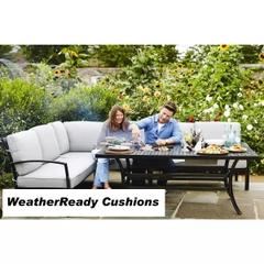 Hartman Jamie Oliver Contemporary Cosy Corner Set Weatherready Cushion Riven/Pewter