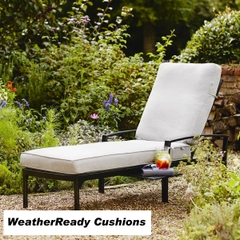 Hartman Jamie Oliver Contemporary Lounger Weatherready Cushions Riven/Pewter