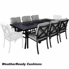 Hartman Jamie Oliver Contemporary Feastable 6 Seat Set Weatherready Cushions Riven/Pewter