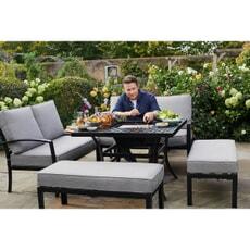 Hartman Jamie Oliver Corner Table Grilling Set Riven/Pewter