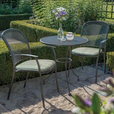 Kettler Caredo - 2 Seat Bistro Mesh Table Garden Furniture Set