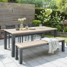 Kettler Elba - Bench and Chairs Dining Set