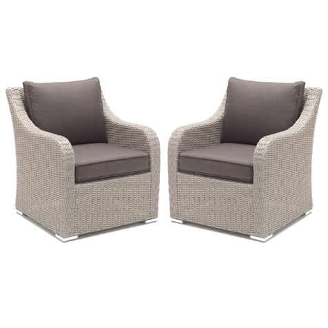 Kettler Madrid Armchairs In White Wash Kmadac2ww