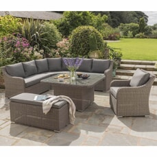 Kettler Madrid Complete Corner Set In Rattan With Taupe