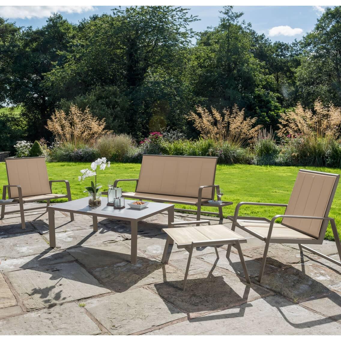 Kettler Milano Lounge Set Taupe Kmilset04 Garden