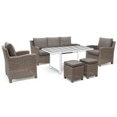Kettler Palma Casual Dining Sofa Set Rattan - NO TABLE