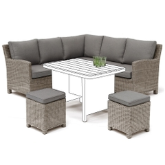 Kettler Palma Mini Corner Sofa Rattan - NO TABLE