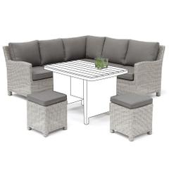 Kettler Palma Mini Corner Sofa White Wash - NO TABLE