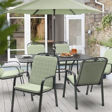 Kettler Siena - 6 Seat Rectangular Mesh Table Garden Furniture Set