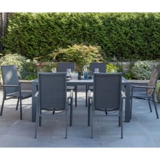 Kettler Surf Active - 6 Seat Multi-Position Dining Chair Set.