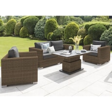 Life Aya Lounge Set Camel with Carbon cushions