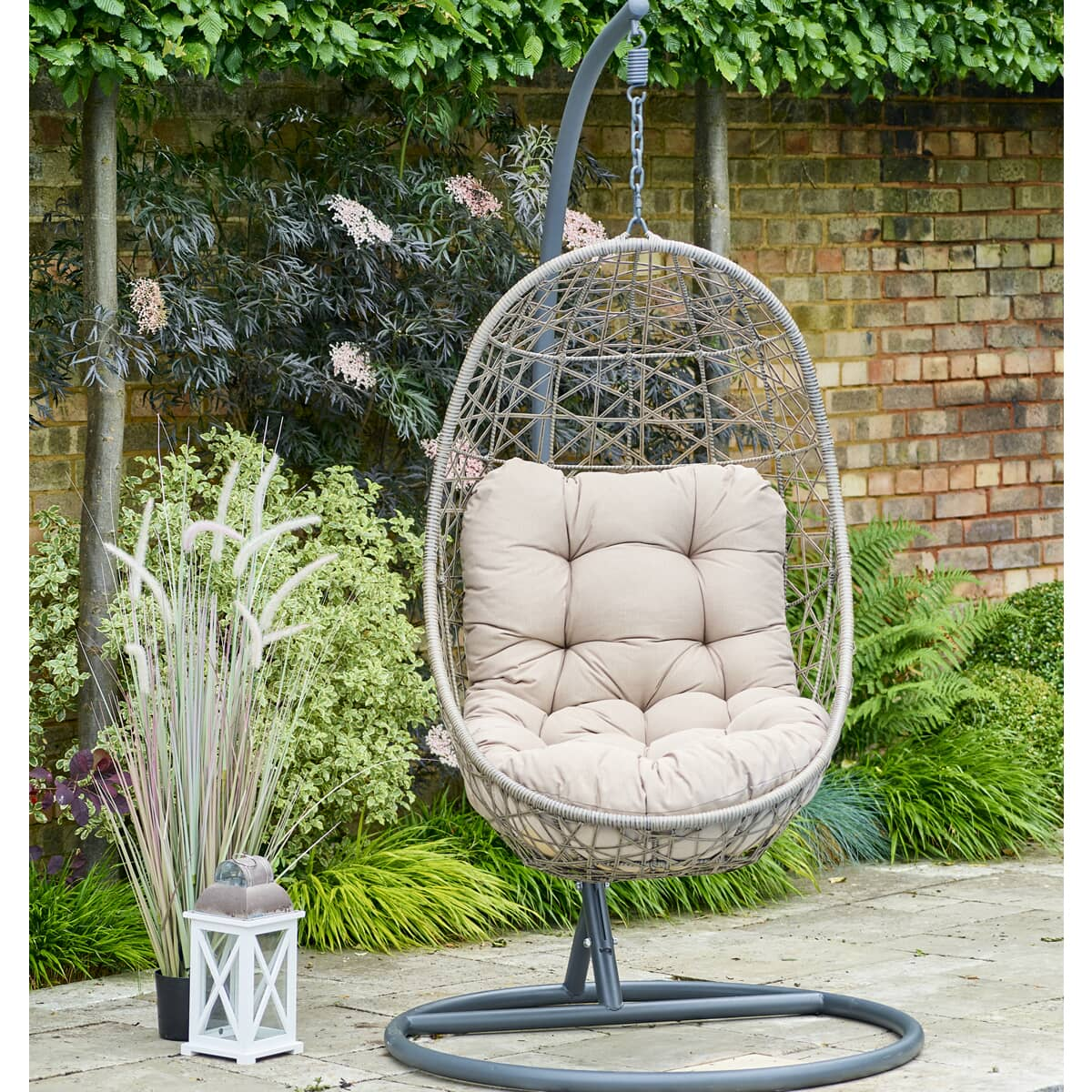 Leisuregrow Monaco Oak Egg Chair Hanging Cocoon Lgmokset15 Garden Furniture World