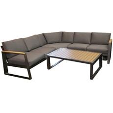 LG Roma Aluminium Lounge Corner set with Coffee Table