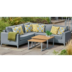 LG Outdoor Siena Advanced Texteline Modular Lounge Set with Nested Tables