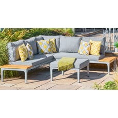 LG Outdoor Siena Cushioned Modular Lounge Set with Ottoman