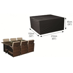 Bosmere 6 Seater Rectangular Cube Set Cover