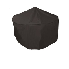 Bosmere 4/6 Seat Circular Patio Set Cover - Black