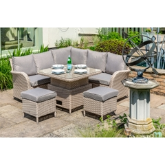 LG Outdoor Monaco Compact Dining Modular with Adjustable Table