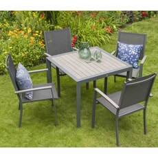 LG Outdoor Milano 4 Seat Set with Sling Armchairs