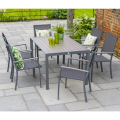 LG Outdoor Milano 6 Seat Set with Sling Armchairs