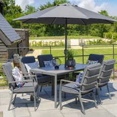 LG Outdoor Milano 6 Seat Set with Highback Armchairs