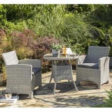 Kettler Palma Dining Set - Whitewash 2 Seater