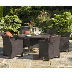 Kettler Palma 6 Seater Casual Dining Round Set with Lazy Susan Rattan New 2020