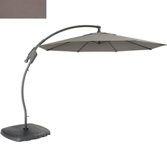 Kettler 3m Free Arm Parasol Taupe Canopy/Grey