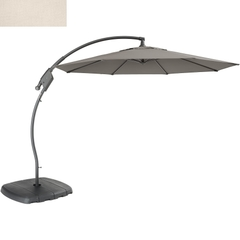 Kettler 3m Free Arm Parasol Natural Canopy/Grey