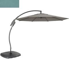Kettler 3m Free Arm Parasol Aqua Canopy/Grey