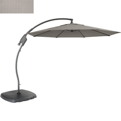 Kettler 3m Free Arm Parasol Stone Canopy/Grey