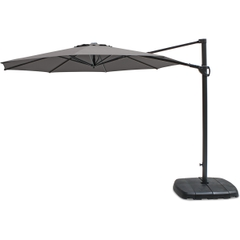 Kettler 3.0m Round Free Arm Parasol - Grey Frame/Grey Taupe Canopy