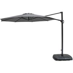 Kettler 3.0m Round Free Arm Parasol - Grey Frame/Slate Canopy