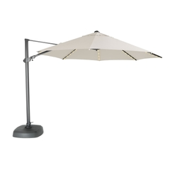 Kettler 3.5m Free Arm Parasol Grey/Natural (LED Lights)