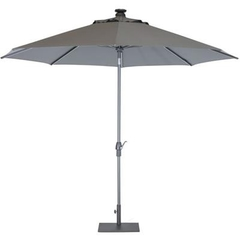 Kettler 2.5m Wind Up Parasol with tilt Grey frame and Taupe Canopy