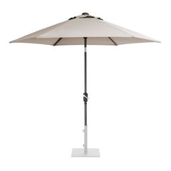 Kettler 2.5m Wind Up Parasol with tilt Grey frame and Stone Canopy