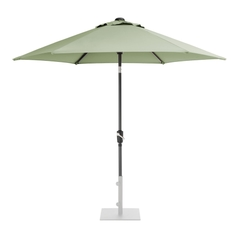 Kettler 2.5m Wind Up Parasol with tilt Grey frame and Sage Canopy