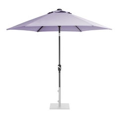 Kettler 2.5m Wind Up Parasol with tilt Grey frame and Wisteria Canopy