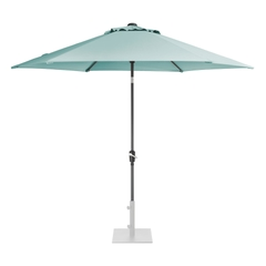 Kettler 3.0m Wind Up Parasol with tilt Grey frame and Aqua Canopy
