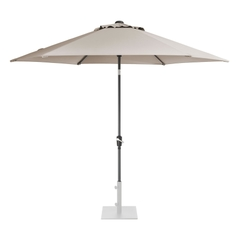 Kettler 3.0m Wind Up Parasol with tilt - Grey frame and Stone Canopy